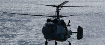 Upgraded Ka-27 Helicopters Practice Landings on Latest Frigate's Deck in Arctic Drills