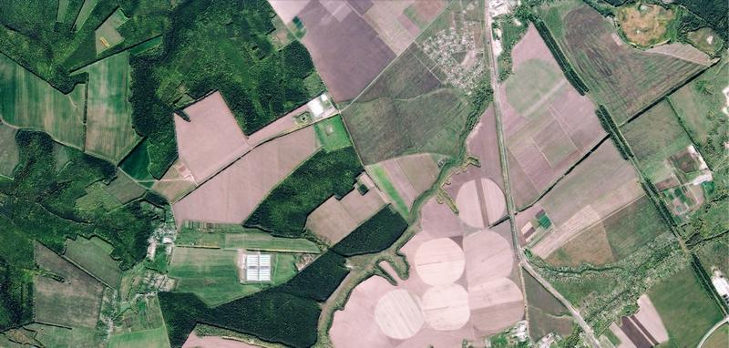 Белгород, снимок из космоса