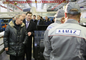 Владимир Путин посетил Камаз