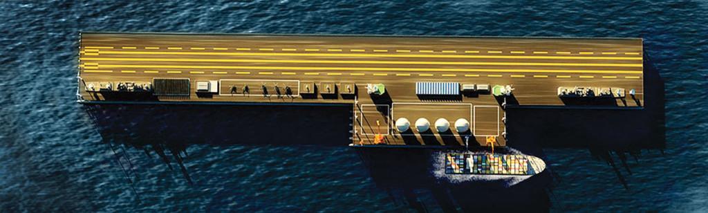 Варианты концепта терминала морского базирования» (ТМБ). Китай