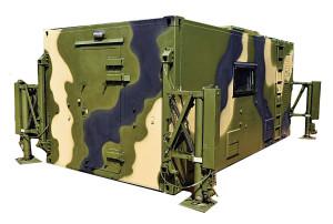 Стандартный пятиметровый контейнер с электрогидравлическим погрузочно-разгрузочным устройством