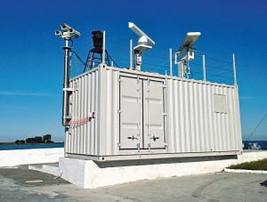 Один из модулей радиотехнического поста в районе пункта базирования