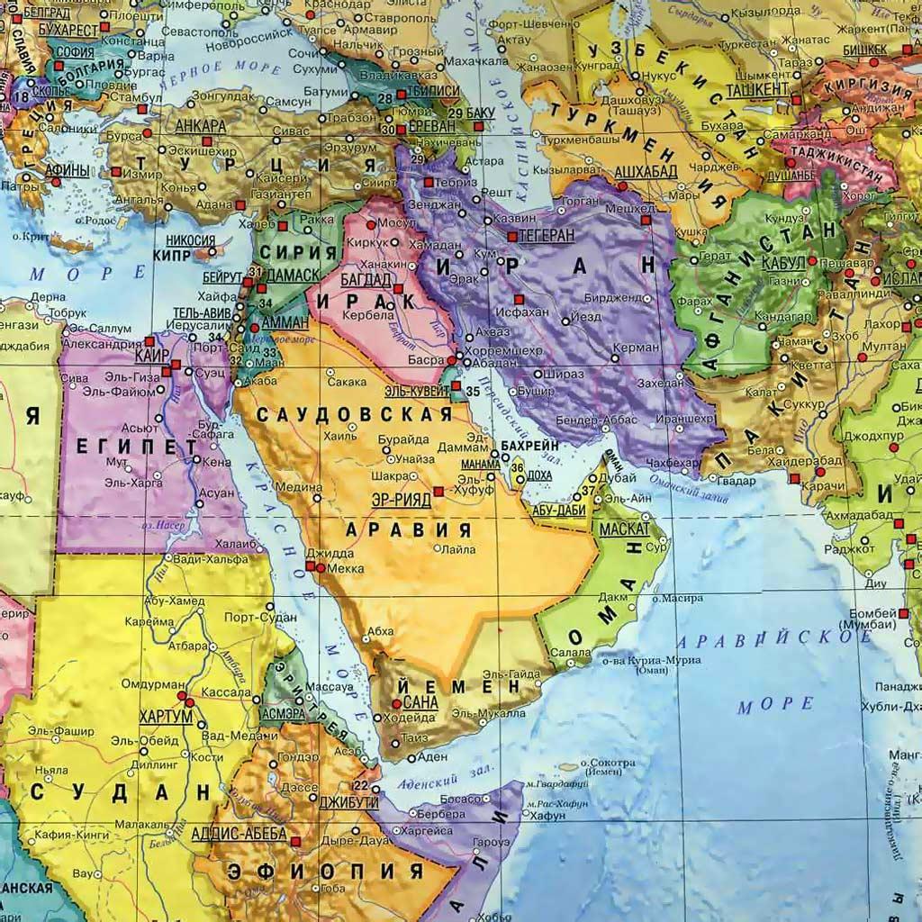 Карта Иран Сирия