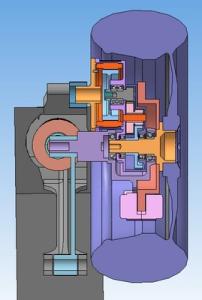 Проект-2_Пример исполнения мотор-колеса_Вид сверху