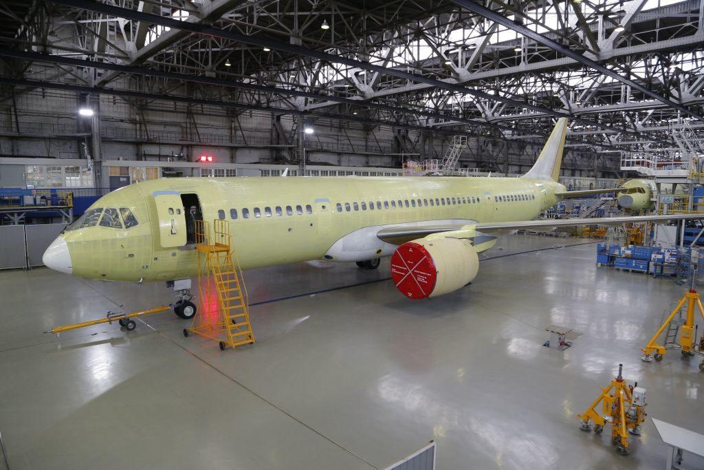 Иркут_завершена постройка второго опытного самолета МС-21-300