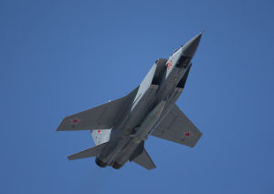 МиГ-31 оснащенный комплексом Кинжал