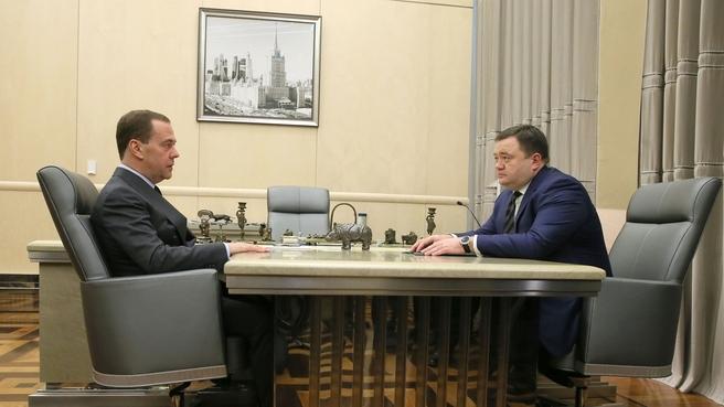 Дмитрий Медведев и Петр Фрадков_Промсвязьбанк
