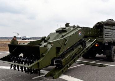 """Первый робот-сапер """"Уран-6"""" поставлен в Международный противоминный центр ВС РФ"""