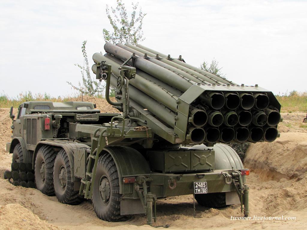 """Боевая машина 9П140 ракетного комплекса 9К57 """"Ураган"""" (http://twower.livejournal.com)"""