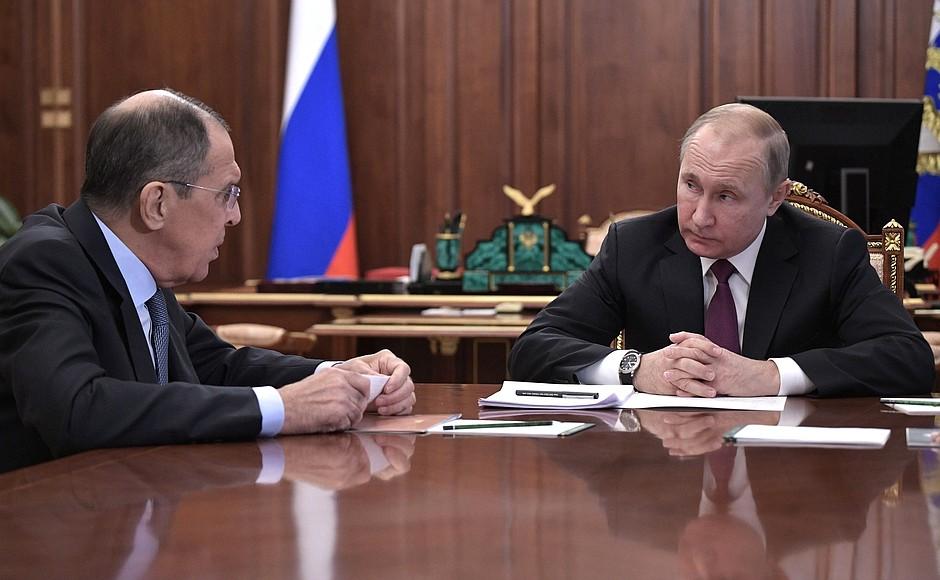 Владимир Путин и Сергей Лавров_2.02.2019