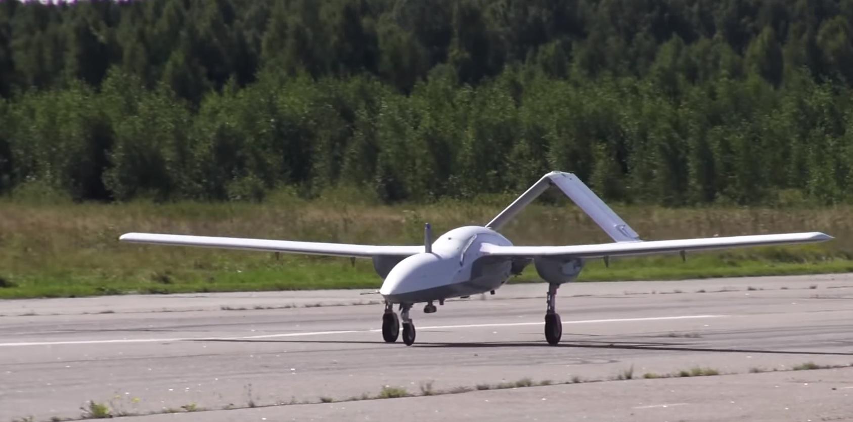 Беспилотный летательный аппарат «Корсар» (кадр видео Министерства обороны России)