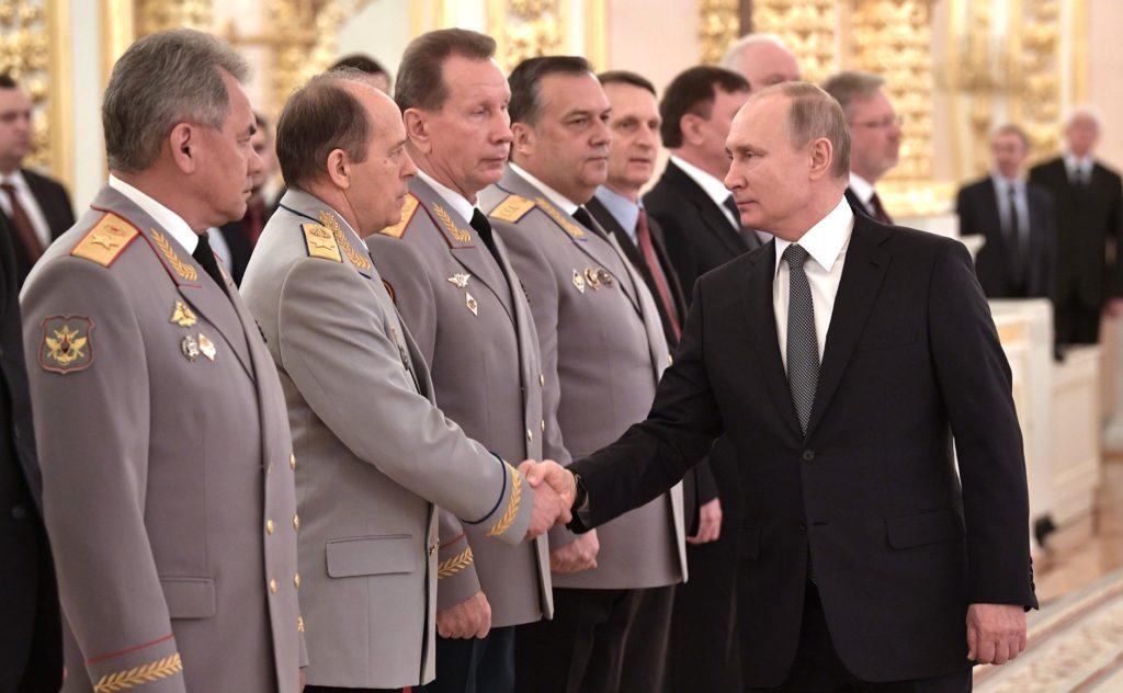 Путин_ Встреча с высшими офицерами в Кремле_апрель 2019