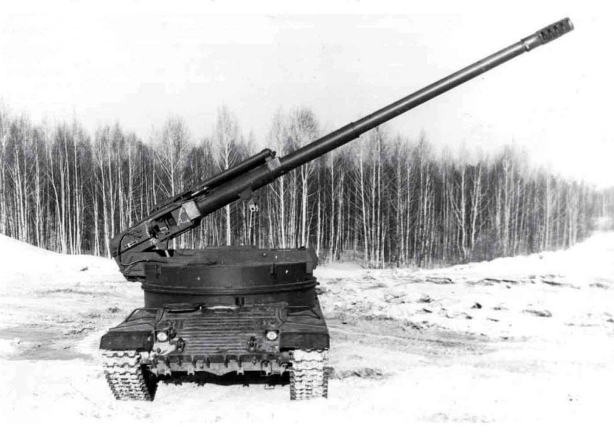 """Экспериментальная самоходная артиллерийская установка """"объект 327"""""""