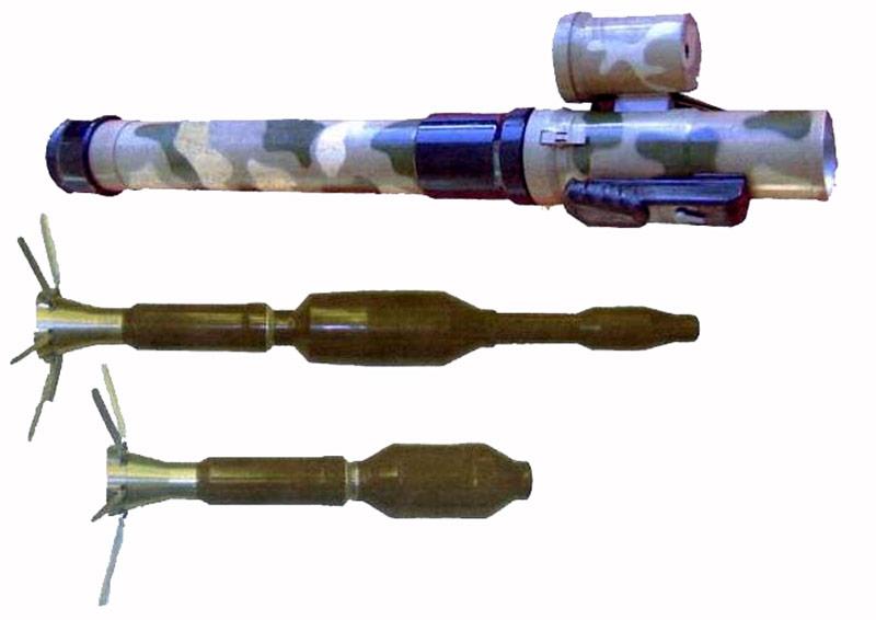 """РПГ-32 """"Хашим"""" с двумя типами гранат-выстрелов"""