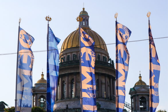 Санкт-Петербург_ Флаги ПМЭФ-2019_Фото ТАСС