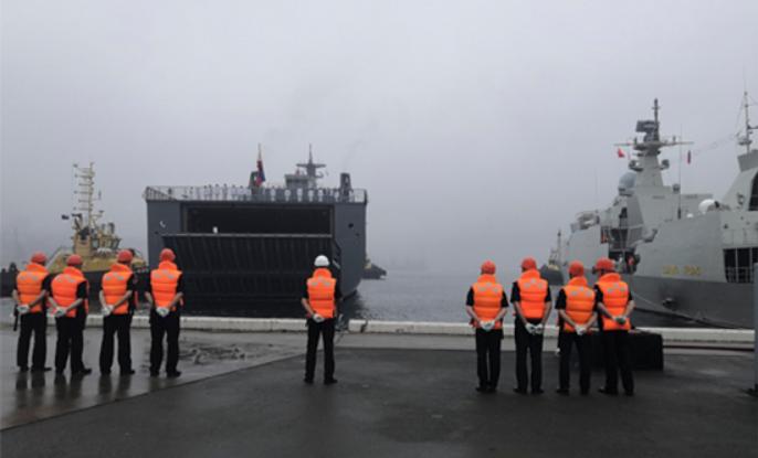 Во Владивосток для участия в Дне ВМФ России прибыл десантный вертолетоносец корабль-док_Давао-дель- Сур_ ВМС Филиппин