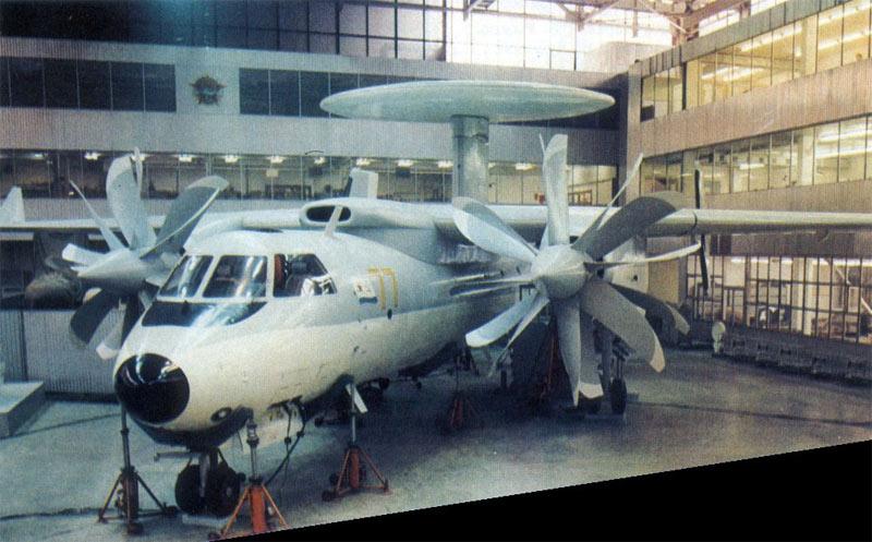 Макет самолета ДРЛОиУ Як-44Э