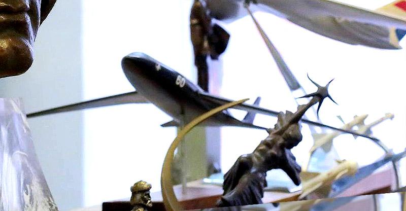Модель самолета М-60Б в музее ЛИИ им.Громова, 2015 г. (фото - Александр Яскевич)