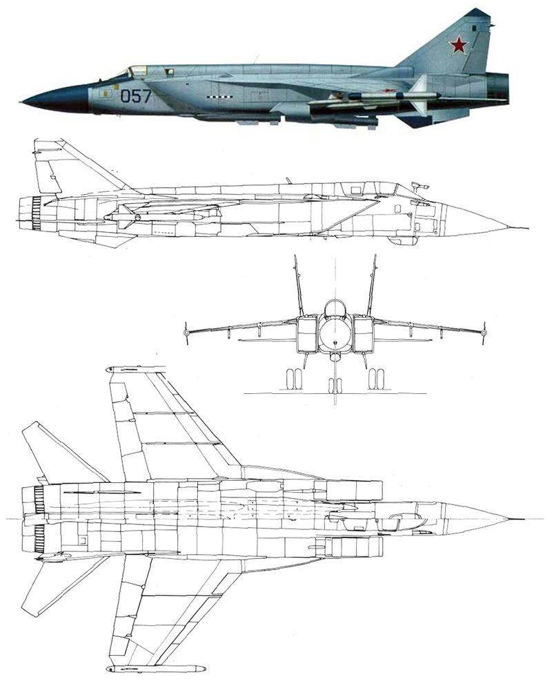 Проекции МиГ-31М