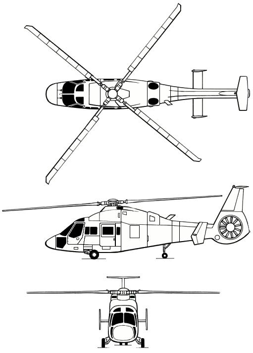 Проекции вертолета Ка-60