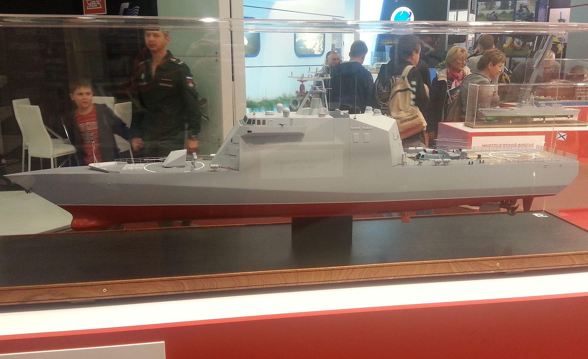 Модель корвета проекта 20386 на выставке «Армия 2016» (фото - Артем Ткаченко, https://ru.wikipedia.org/)