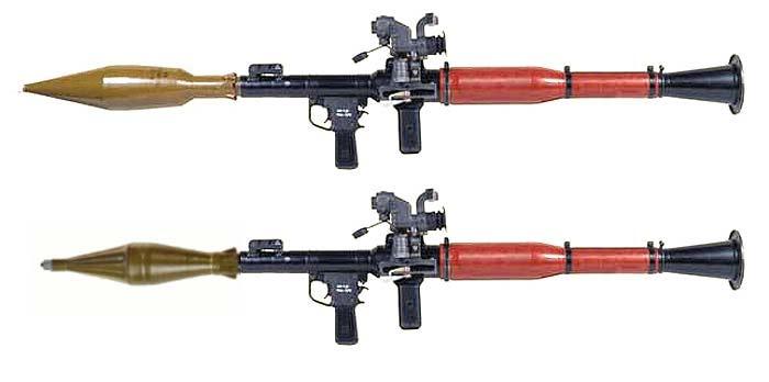 Гранатомет РПГ-7В с оптическим прицелом и с гранатами ПГ-7ВЛ и ПГ-7В