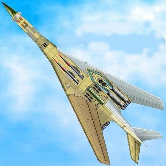 Компоновка ракетоносца М-18 с ракетами Х-45 в отсеке вооружения