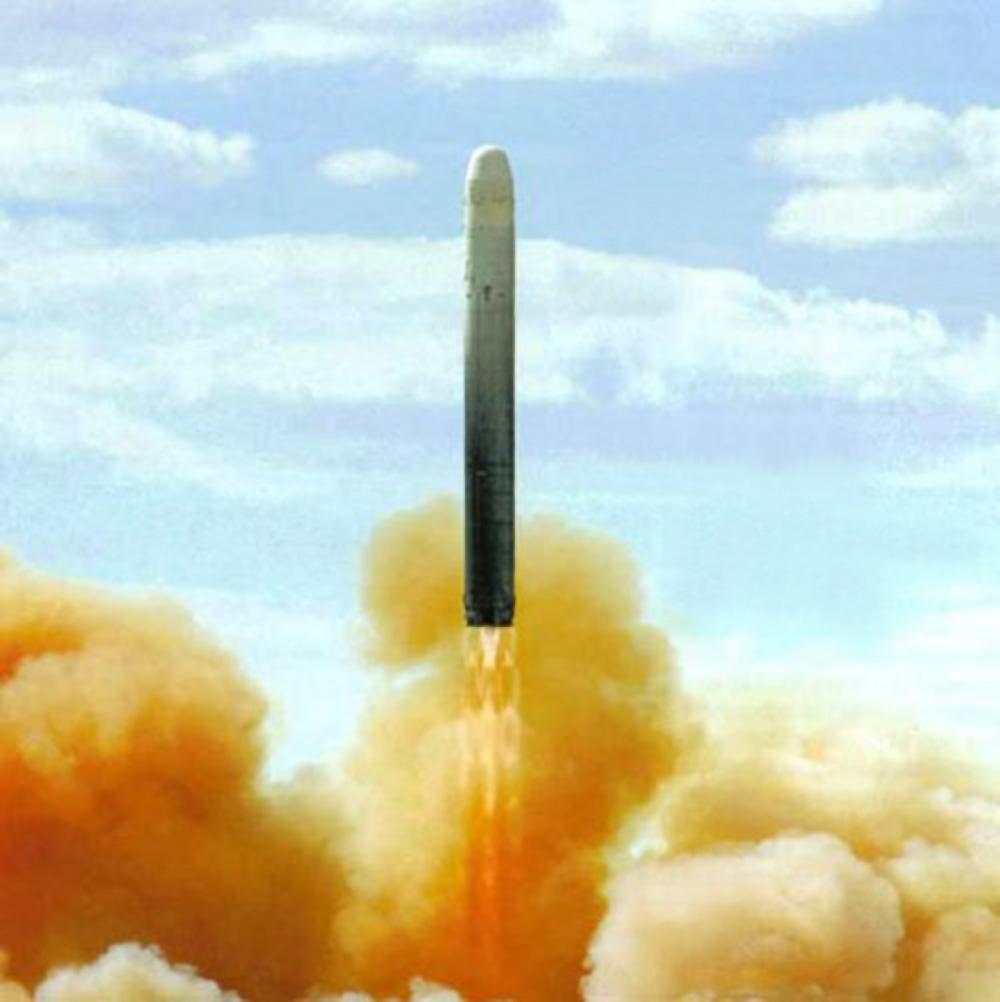 Пуск ракеты 15А35 / УР-100НУТТХ  (НПО машиностроения)