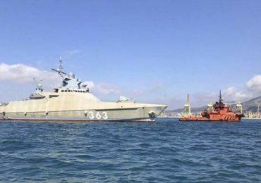 Патрульный корабль «Павел Державин» готовится к выходу в море для проведения испытаний