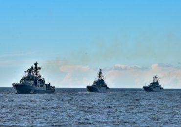 В акватории Балтийского моря проводятся военно-морские учения «Океанский щит-2020»
