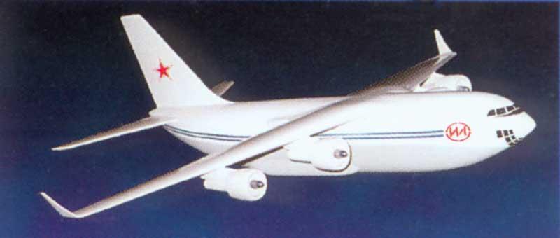 """Самолет Ил-106 на стадии аванпроекта 1987 г., предполагаемый прототип ПАК ТА (фото - ОАО """"АК им. С.В.Ильюшина"""")"""